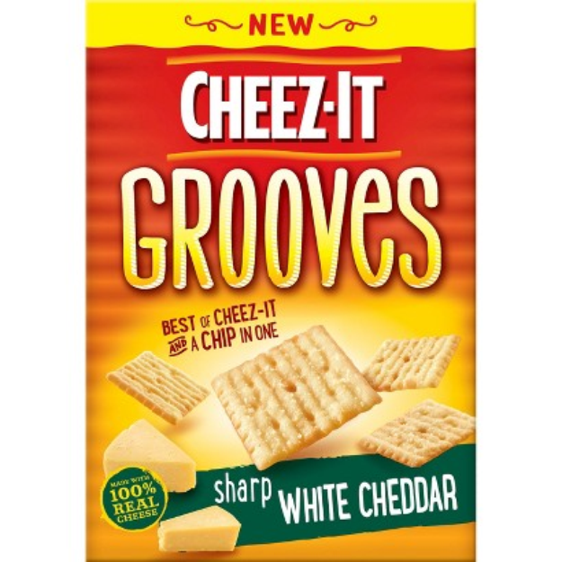 Cheez-It Grooves Sharp White Cheddar Crackers 9 oz