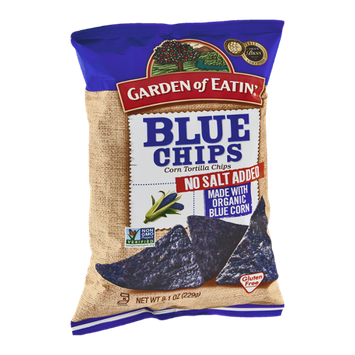 Garden of Eatin' Corn Tortilla Chips Blue Chips No Salt Added