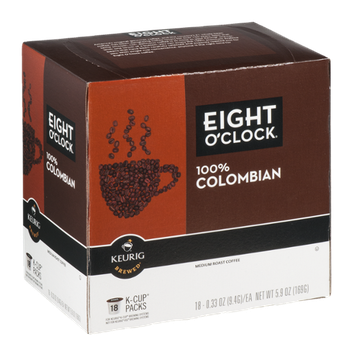 Eight O'Clock 100% Colombian Medium Roast Coffee K-Cup - 18 CT