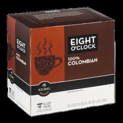 Eight O'Clock 100% Colombian Medium Roast Coffee K-Cup - 18 CT
