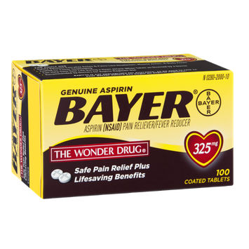 Bayer Genuine Aspirin Pain Reliever/Fever Reducer Coated Tablets - 325mg