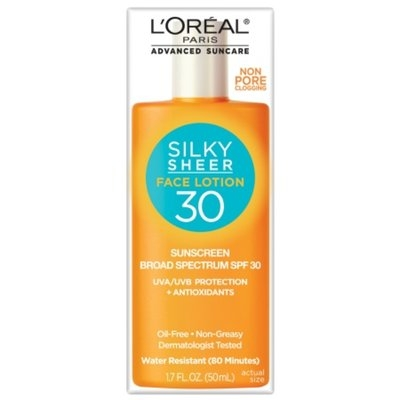 L'Oréal Paris Advanced Suncare Silky Sheer Face Lotion SPF 30, 1.7 fl oz