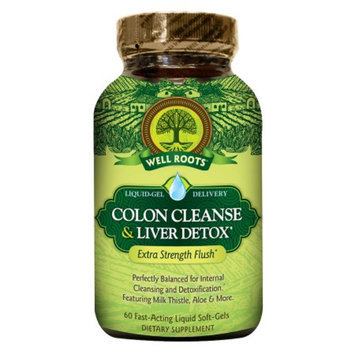 Well Roots Colon Cleanse & Liver Detox, Softgels, 60 ea