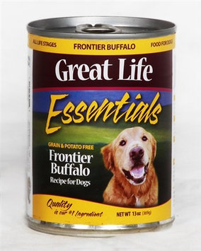 Great Life Essentials Frontier Buffalo Canned Dog Food 13 oz. (Case of 12)