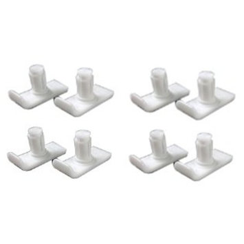Maddak 4-Pair Pack of Walker Glides End Caps