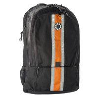 DadGear Backpack Diaper Bag - Orange Center Stripe