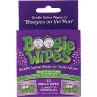 Little Busy Bodies, LLC Boogie Wipes On The Run, Great Grape, 10 Sachets (Pack of 12)