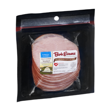 Bob Evans Fully Cooked Smoked Canadian Bacon
