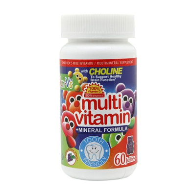 Yum-V's Multivitamin +Mineral Formula Jellies, Yummy Grape, 60 ea