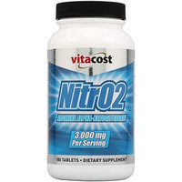 Vitacost Brand Vitacost NitrO2 Arginine Alpha-Ketoglutarate -- 3,000 mg per serving - 180 Tablets