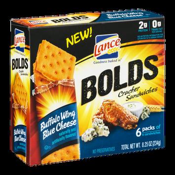 Lance Bolds Cracker Sandwiches Buffalo Wing Blue Cheese - 6 PK