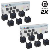 LD Compatible Replacements for Xerox 108R00727 Set of 12 Black Solid Ink ColorStix Cartridges for use in Phaser 8560, 8560DN, 8560MFP, 8560N, 8560DX, & 8560DT Printers