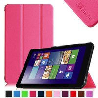 Fintie Slim Shell Case Lightweight Stand Cover For New Dell Venue 8 (2014 Version) 8-Inch Android Tablet, Magenta