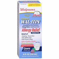 Walgreens Wal-Itin Allergy Relief Oral Solution Grape