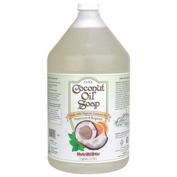 Nutribiotic Pure Coconut Oil Soap, Peppermint & Bergamot, 1 Gal