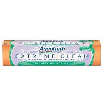 Aquafresh Extreme Clean Freshening Action, 7-Ounce Tubes (Pack of 6)