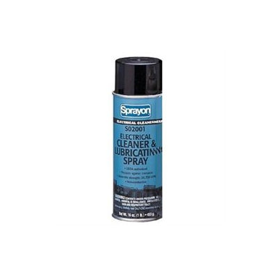 Sprayon Electrical Contact and Parts Cleaners S02001 16-oz.