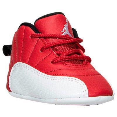 Nike Air Jordan Retro 12 Crib Gift Pack, Boy's, Red/White