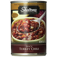 Shelton's Turkey Chili, Spicy, 15-Ounce Cans (Pack of 12)