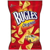 Bugles Crispy Corn Snacks, Original, 4.1-Ounce Packages (Pack of 12)