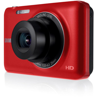 Samsung Red EC-ST71TZBPBPA Digital Camera with 14.2 Megapixels and 5x Optical Zoom