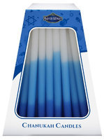 Artsy Casa Lamp Lighters Ultimate Judaica Chanukah Candles - European Collection - 45 Pack - Blue/White - 6