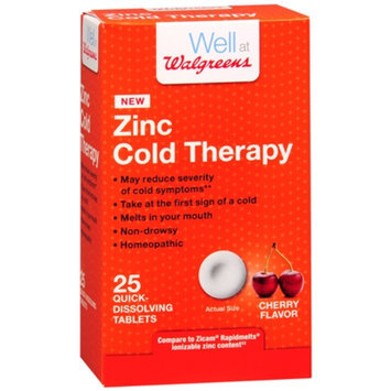 Walgreens Zinc Cold Therapy Tablets, Cherry, 25 ea