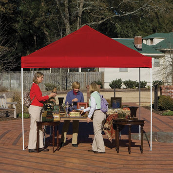 Shelter Logic 10x10 Open Top Pro Pop-up Canopy Red Cover