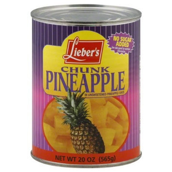Liebers Pineapple, Chunk, Passover, 20-Ounce (Pack of 8)