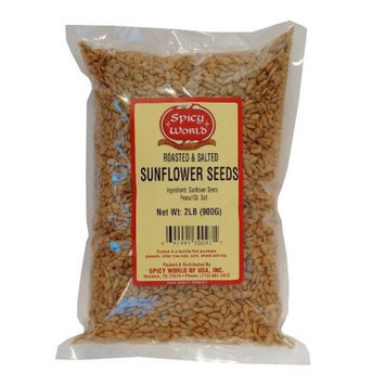 Roasted & Salted Sunflower Seeds - 2 Pound Bag - Fresh from Spicy World