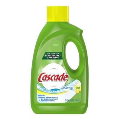 Cascade Gel Dishwasher Detergent with Extra Bleach Action, Lemon Scent, 75-Ounce