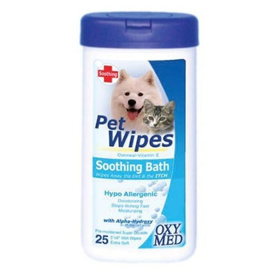 Tropiclean Soothing Pet Wipes, 25 Count