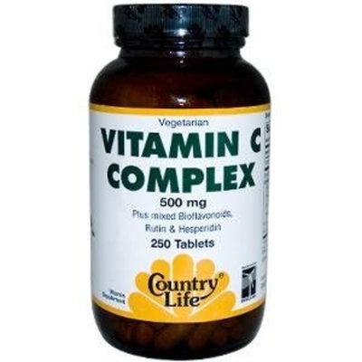 Country Life Vitamin C Complex 500 Mg (with bioflavonoids and Rutin), 250-Count