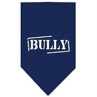 Mirage Pet Products 6622 LGNB Bully Screen Print Bandana Navy Blue large