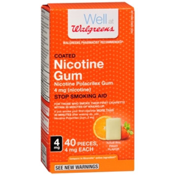 Walgreens Nicotine Replacement Gum 4Mg, Fruit, 40 ea