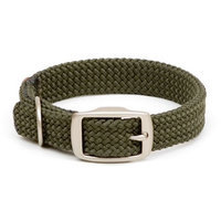 Mendota Products Double Braid Dog Collar, Olive, 1 x 24-Inch