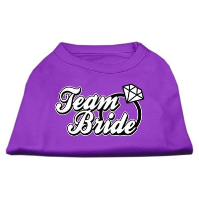 Mirage Pet Products 5177 LGPR Team Bride Screen Print Shirt Purple Lg 14