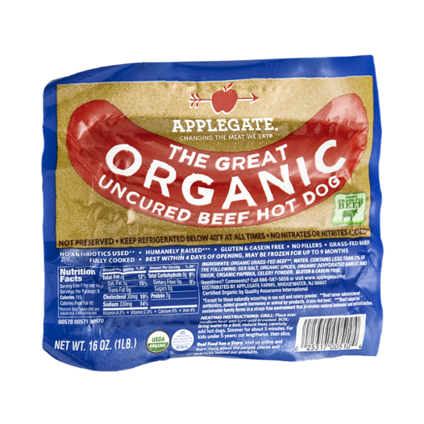 Organic Uncured Beef Hot Dogs