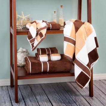 Lavish Home Oakville 100% Cotton 6 Piece Towel Set Color: Chocolate