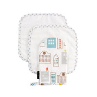 Dwell Studio Dwellstudio Wash Cloth and Mitt Set, Skyline