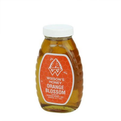2 Pounds of WNY's Wixson's Orange Blosson Honey in Classic Glass Jar