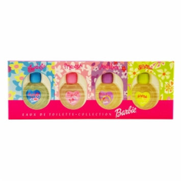Barbie Mini Variety Barbie Eau de Toilettte Set: Model, Princesa, Aventura, Sirena, 4pc, 1 set