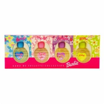 Barbie Mini Variety Barbie Eau de Toilettte Set: Model, Princesa, Aventura, Sirena, 4pc, 1 set