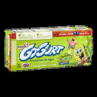 Yoplait GoGurt Portable Low Fat Yogurt SpongeBob Squarepants Strawberry Riptide Sponge Berry - 8 CT