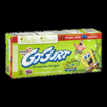 GO-GURT® Portable Low Fat Yogurt SpongeBob Squarepants Strawberry Riptide Sponge Berry