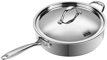 Neway International Neway NC00230 Multi-Ply Clad Stainless-Steel 5-Quart 11 inch Covered Deep Saute Pan