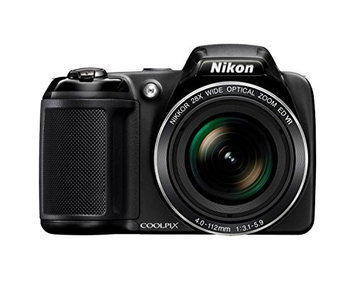 Nikon Coolpix L340 20MP Bridge Camera - Black.