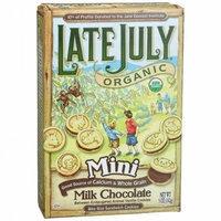 Late July e July Snacks Organic Mini Milk Chocolate Bite Size Sandwich Cookies -- 5 oz