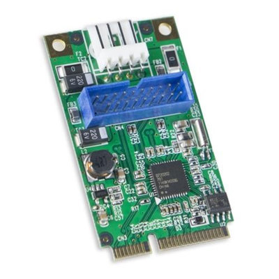 Syba Mini PCI Express 2.0 2-Port USB3.0 Card Renesas D720202 Chipset 5.0Gbps
