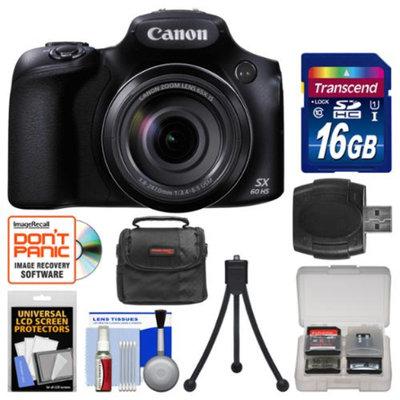 Canon PowerShot SX60 HS Wi-Fi Digital Camera with 16GB Card + Case + Flex Tripod + Accessory Kit
